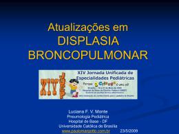 Atualizações em displasia broncopulmonar