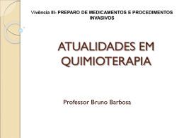 atualidades em quimioterapia - Universidade Castelo Branco