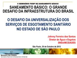 II SEMINÁRIO FIESP DE SANEAMENTO BÁSICO