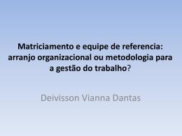 Matriciamento e equipe de referencia