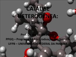 catálise - Departamento de Química - UFPB