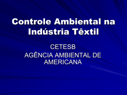 Controle Ambiental na Indústria Têxtil