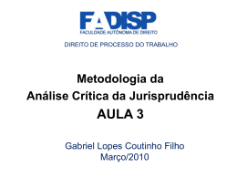 súmula vinculante - Gabriel Lopes Coutinho Filho