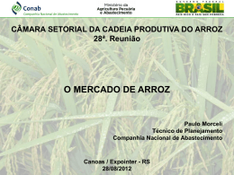 RS 28/08/2012 CÂMARA SETORIAL DA CADEIA PRODUTIVA DO