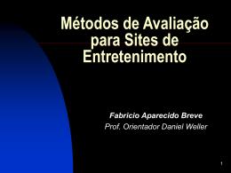 Métodos de Avaliação para Sites de Entretenimento