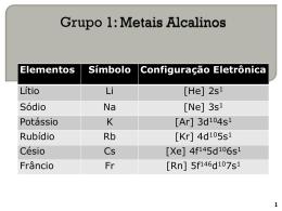 Aula metais alcalinos