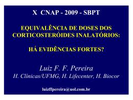 equivalência doses CTS CORTICOSTERÓIDES INALATÓRIOS
