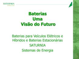 Baterias Uma Visão do Futuro