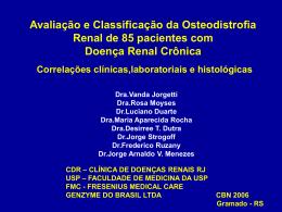 Avaliação e Classificação da Osteodistrofia Renal CBN 2006