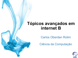 Tópicos avançados em internet B