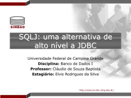SQLJ - Universidade Federal de Campina Grande