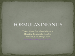 FÓRMULAS INFANTIS - Paulo Roberto Margotto