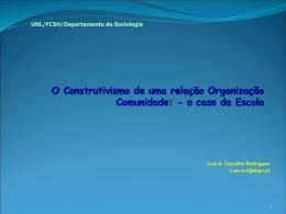 A Escola e a Comunidade - Universidade Nova de Lisboa