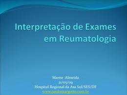 Interpretação dos exames em reumatologia