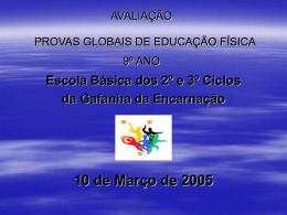 Despacho Normativo nº1 /2005 Provas globais