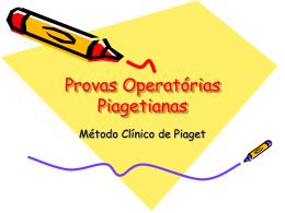Provas Operatórias Piagetianas