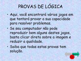 PROVAS DE LÓGICA