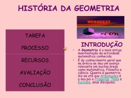 HISTÓRIA DA GEOMETRIA
