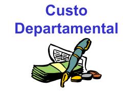 Apresentação sobre departamentalização de custos