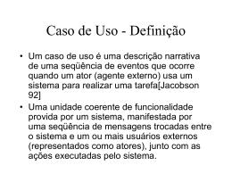 Caso de Uso - Definição - Centro de Informática da UFPE