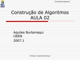 Aula02 - Aquiles Burlamaqui