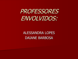 PROFESSORES ENVOLVIDOS: