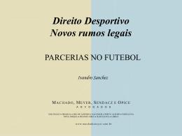 Parcerias no Futebol - IBDD - Instituto Brasileiro de Direito Desportivo