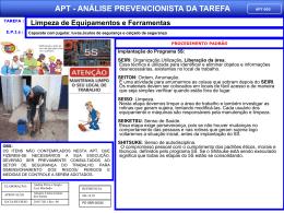 APT 05 - Limpeza de Equipamentos e Ferramentas