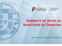 gabinete de apoio ao investidor da diáspora
