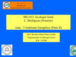 Curso Ciências Biológicas Eologia Energétia
