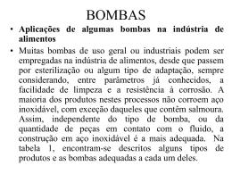 apresentação de bombas