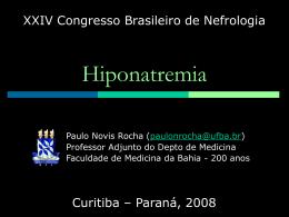 HIPONATREMIA - Sociedade Brasileira de Nefrologia