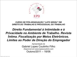 poder diretivo do empregador - Gabriel Lopes Coutinho Filho