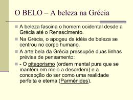 O BELO - Kant - Professor Ronaldo Nezo