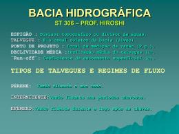 Bacias Hidrográficas Belo Horizonte