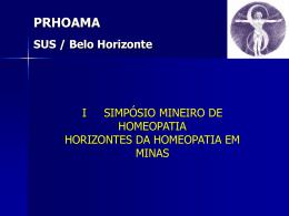 PRHOAMA - Serviço Phýsis de Homeopatia