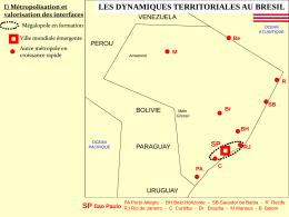 SP Sao Paulo LES DYNAMIQUES TERRITORIALES AU BRESIL