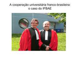 o caso do IFBAE - Uni