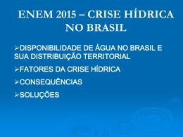 crise hídrica no brasil
