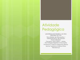 Arquivo de Power Point - Educação e Mídias