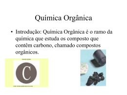 Química orgânica: os compostos do carbono