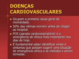 DOENÇAS CARDIOVASCULARES E RCP.