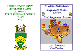 United States Army Sergeants Major Academy First Sergeant