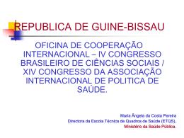 Angela Pereira - Escola Politécnica de Saúde Joaquim Venâncio