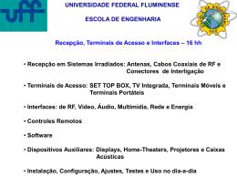 TV Digital - Departamento de Engenharia de Telecomunicações