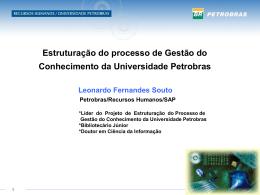Gestão do Conhecimento na Universidade Petrobras