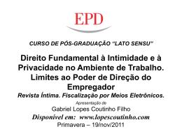 direito de revista - Gabriel Lopes Coutinho Filho