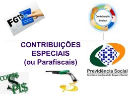 Contribuições Especiais (ou Parafiscais) De