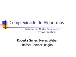 Teigao - Roberta - Complexidade de Algoritmos