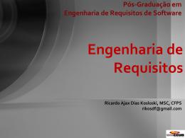 Pós-Graduação em Engenharia de Requisitos de Software